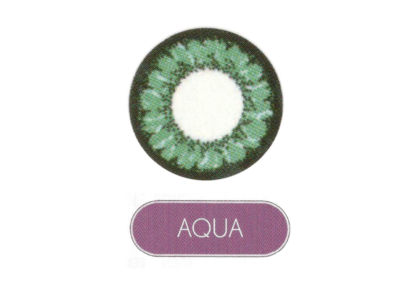 Lacelle Circle Monthly Disposable (2 Lens Box) Aqua