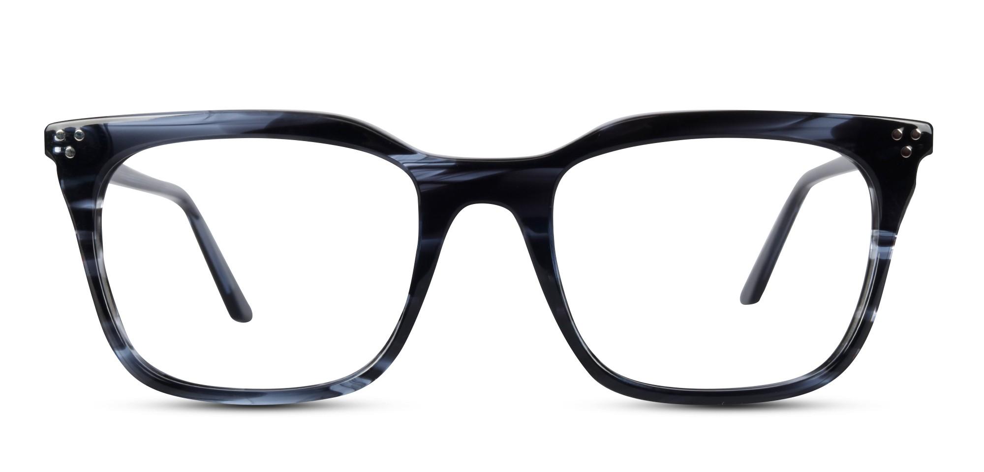 Acetate Retro Square Grey Eyeglass (Medium)