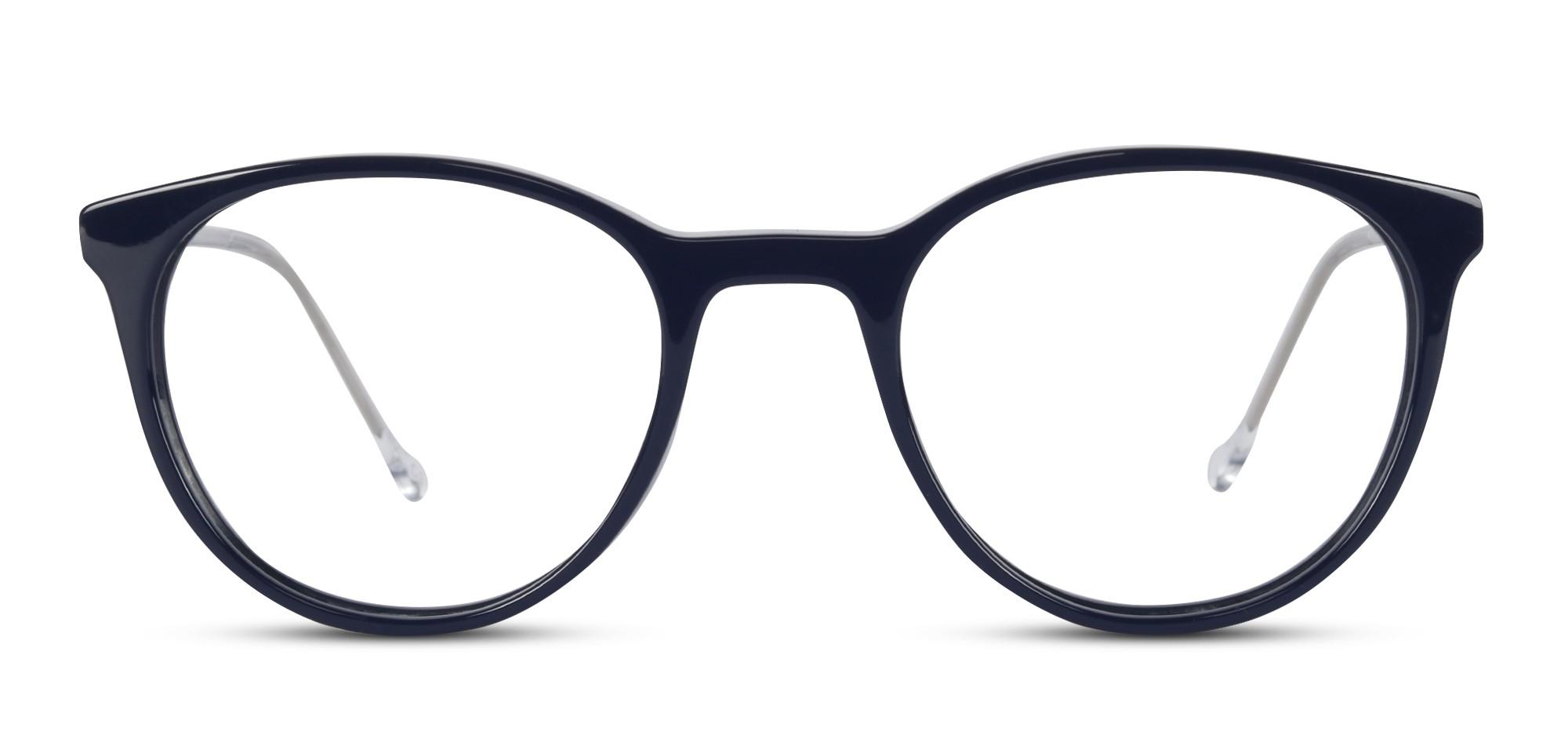 Acetate Round Dark Blue Eyeglass (Small)