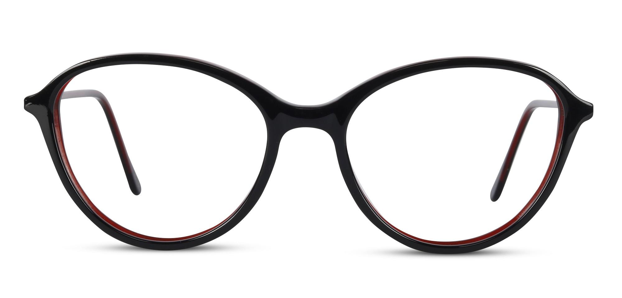 Acetate Oval Black-Wine Eyeglass (Medium)