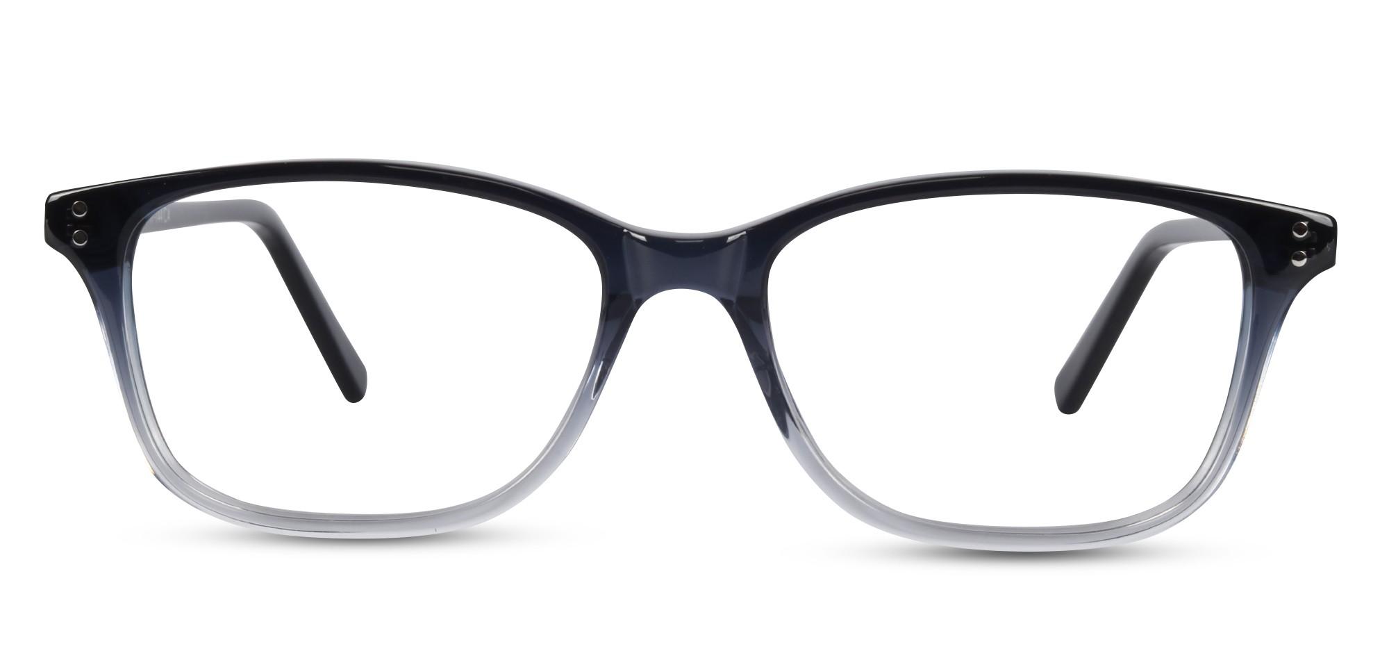 Acetate Rectangle Black-Grey Eyeglass (Medium)