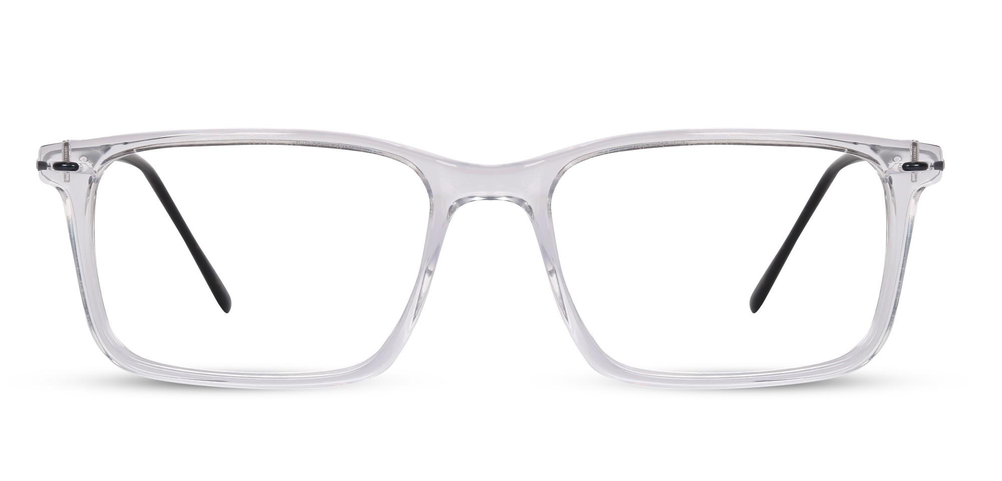 Acetate Rectangle Crystal Eyeglass (Medium)