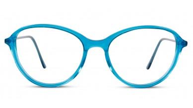Acetate Oval Aqua-Blue Eyeglass (Medium)
