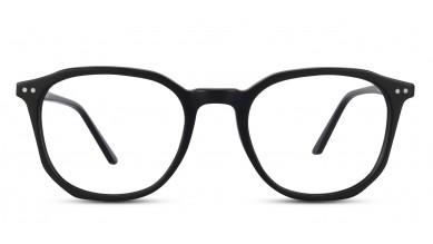 Acetate Square Matte Black Eyeglass (Medium)