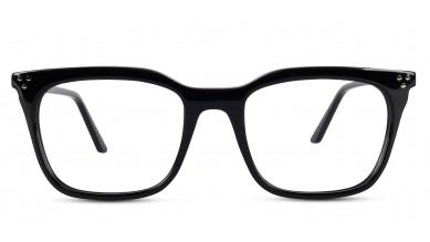 Acetate Retro Square Shine Black Eyeglass (Medium)