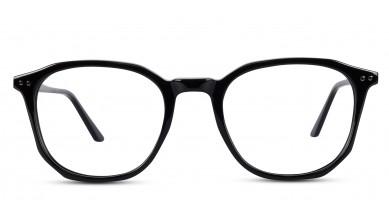 Acetate Square Shine Black Eyeglass (Medium)