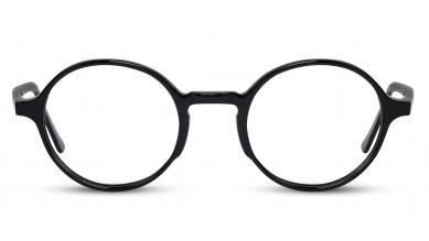 Acetate Round Shine Black Baby Eyeglass (Medium)