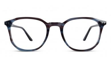 Acetate Square Grey-Brown Eyeglass (Medium)