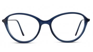 Acetate Oval Dark Blue Eyeglass (Medium)