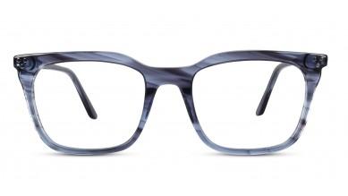 Acetate Retro Square Blue Eyeglass (Medium)