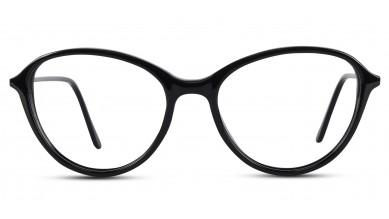 Acetate Oval Shine Black Eyeglass (Medium)