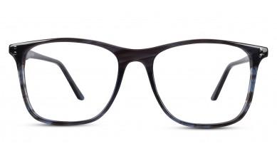 Acetate Square Shine Grey-Brown Eyeglass (Medium)