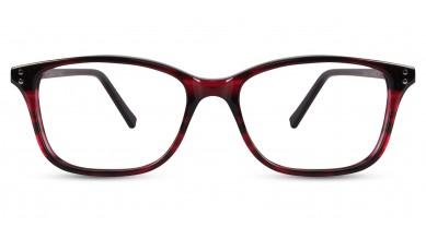 Acetate Rectangle DA-wine Black Eyeglass (Medium)
