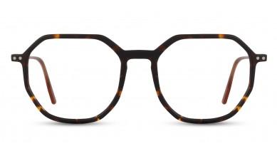 Acetate Rectangle Matte DA-Brown Eyeglass (Small)