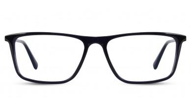 Acetate Rectangle Black-Blue Eyeglass (Large)