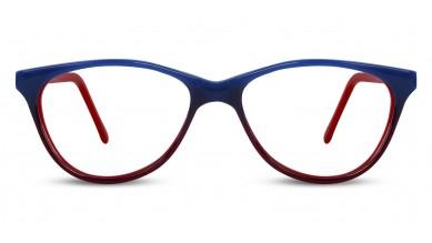 Acetate Cat-Eye Blue Red Baby Eyeglass (Medium)