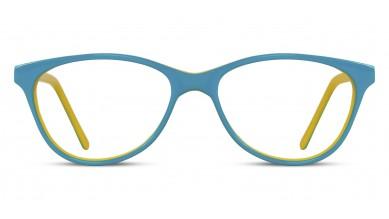 Acetate Cat-Eye Green Yellow Baby Eyeglass (Medium)