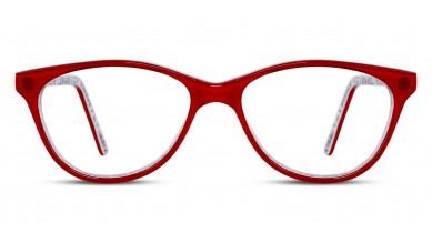 Acetate Cat-Eye Red White Baby Eyeglass (Medium)