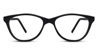 Acetate Cat-Eye Shine Black Baby Eyeglass (Medium)
