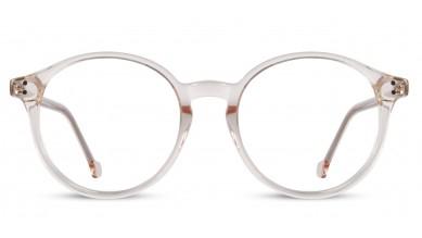 Acetate Round Crystal Peach Eyeglass (Small)
