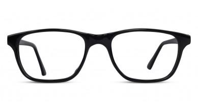 Acetate Rectangle Shine Black Baby Eyeglass (Medium)