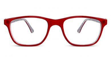 Acetate Rectangle Red White Baby Eyeglass (Medium)