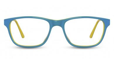 Acetate Rectangle Green Yellow Baby Eyeglass (Medium)