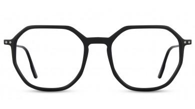 Acetate Rectangle Matte Black Eyeglass (Small)