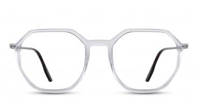 Acetate Rectangle Crystal Eyeglass (Small)