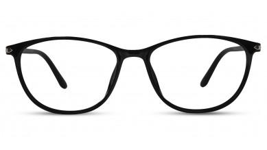 TR90 Oval Shine Black Eyeglass (Medium)