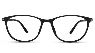 TR90 Oval Matte Black Eyeglass (Medium)