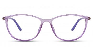 TR90 Oval Purple Eyeglass (Medium)