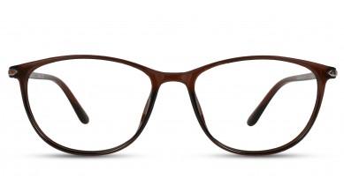TR90 Oval Brown Eyeglass (Medium) Including Blue Cut Lenses Plano