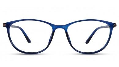 TR90 Oval Blue Eyeglass (Medium) Including Blue Cut Lenses Plano