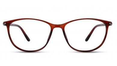 TR90 Oval Brown Eyeglass (Medium)