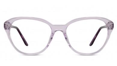 Acetate Cat-Eye Crystal Purple Eyeglass (Large)
