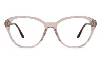 Acetate Cat-Eye Peach Brown Eyeglass (Large)