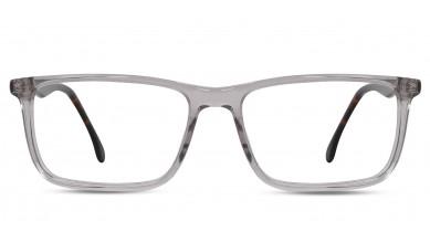 Acetate Rectangle Crystal DA-Brown Eyeglass (Large)