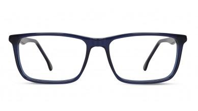 Acetate Rectangle Dark Blue Eyeglass (Large)