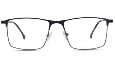 Metal Rectangle Matte Blue Eyeglass (Large)
