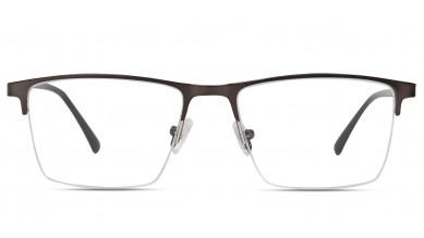 Metal Rectangle Grey Black Eyeglass (Large)