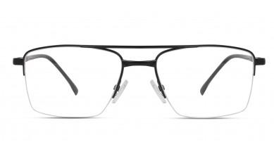 Metal Rectangle Matte Black Eyeglass (Large)
