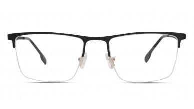 Metal Rectangle Matte Black Grey Eyeglass (Large)