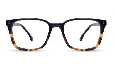 Acetate Rectangle T-H Blue-Brown Eyeglass (Medium)