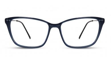 Acetate Square Dark Blue Eyeglass (Medium)