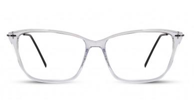 Acetate Square Crystal Eyeglass (Medium)