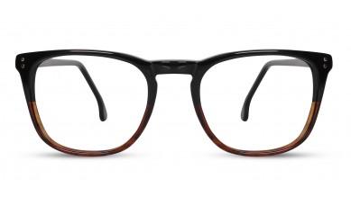Acetate Rectangle Black-Brown Eyeglass (Medium)