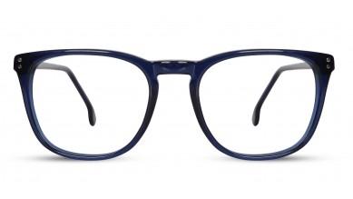 Acetate Rectangle Dark Blue Eyeglass (Medium)