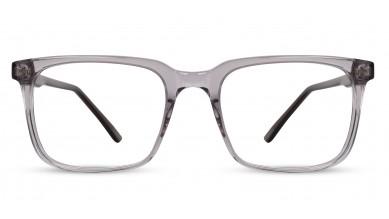 Acetate Rectangle Crystal Grey Eyeglass (Medium)