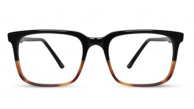 Acetate Rectangle T/H Black-Brown Eyeglass (Medium)